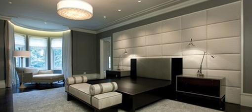 Schlafzimmer mit Leder Soft-Touch