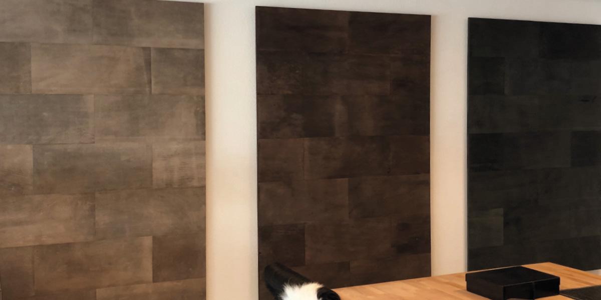 Design Lederwand in Büro